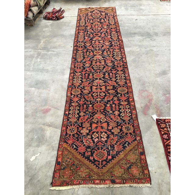 Antique Persian Malayer Runner - 2′5″ × 10′11″ - Image 2 of 8