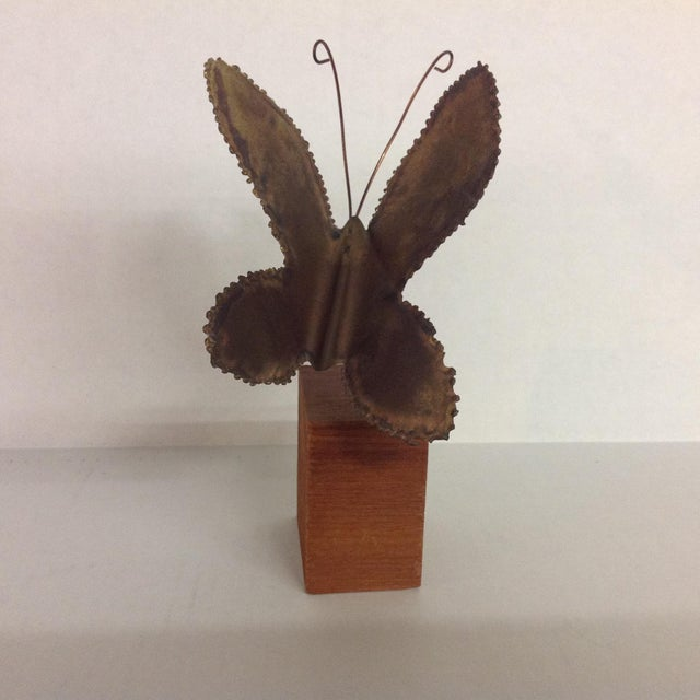 Brass Brutalist Butterfly Sculpture - Image 3 of 6