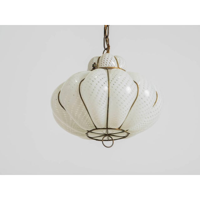 1950s Italian Blown Glass Fixture For Sale - Image 5 of 6