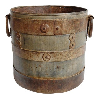 Vintage Iron Bucket For Sale
