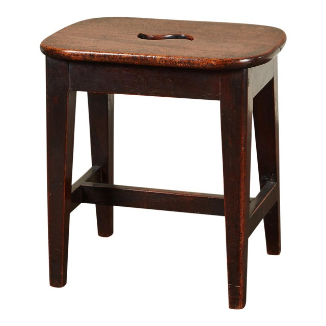 Small 19th Century English Georgian Oak Stool - Image 1 of 6