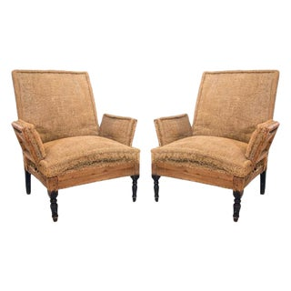 A Pair of Napoleon III Arm Chairs on Ebonized Legs, France, Ca. 1860 For Sale