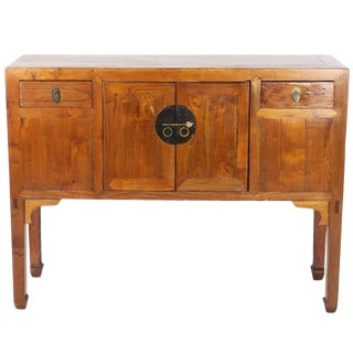 Antique Chinese Wood Sideboard For Sale