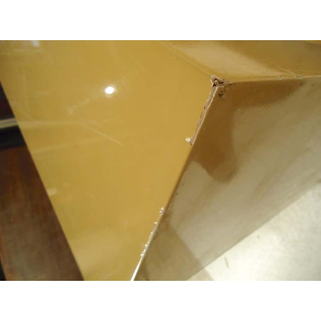 Yellow 1960s Mod Style Lacquered Console For Sale - Image 8 of 9