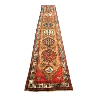 "Oriental Persian Old Runner - 3' x 16'5"" For Sale"