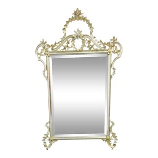 Ethan Allen Italian Silver & Gold Gilt Mirror For Sale