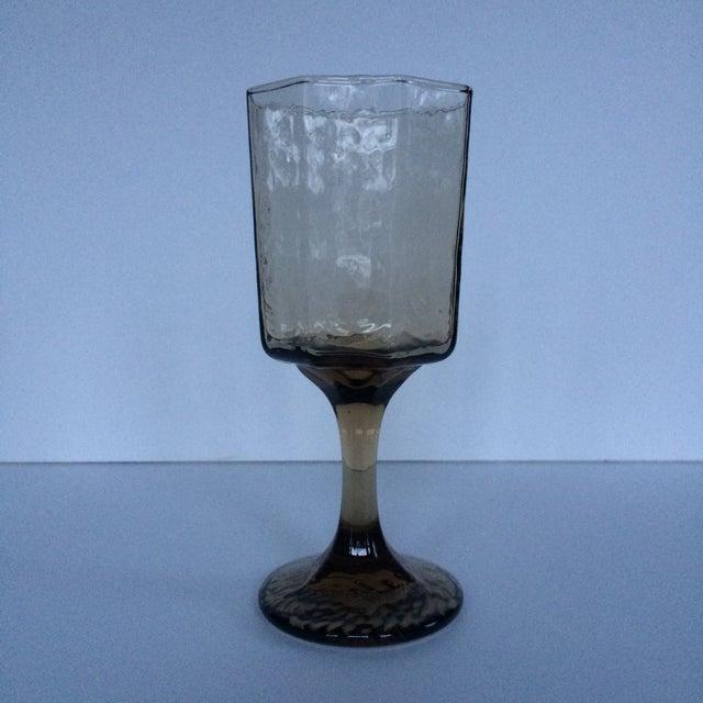 Vintage Octagonal Stemmed Glasses - Set of 10 - Image 9 of 10