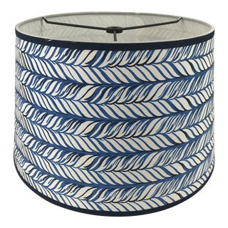 Ink Blue Braid Tapered Drum Lamp Shade For Sale