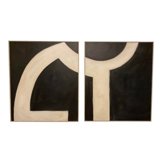 Deep Dish I + II Paintings by Serena Dugan - Set of 2 For Sale