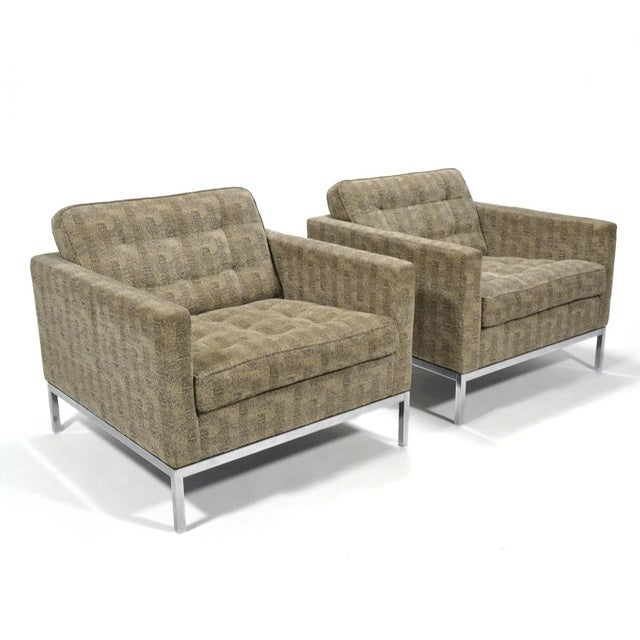Florence Knoll Tuxedo Lounge Chair, Pair - Image 2 of 8