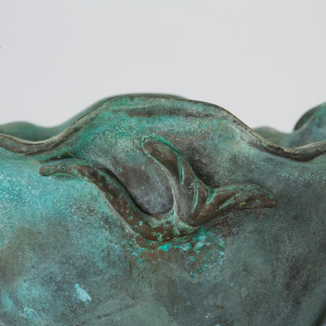 Tiffany Studios Bronze Bowl With Verdigris Finish For Sale - Image 9 of 10