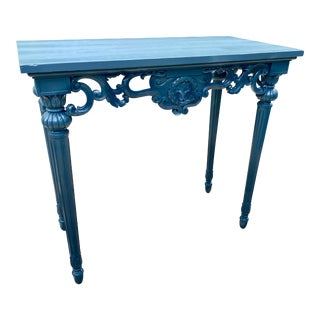 Directoire Style Gray Lacquered Accent or Console Table For Sale