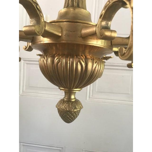 Antique Solid Brass Cherub Chandelier For Sale - Image 9 of 10 - Antique Solid Brass Cherub Chandelier Chairish