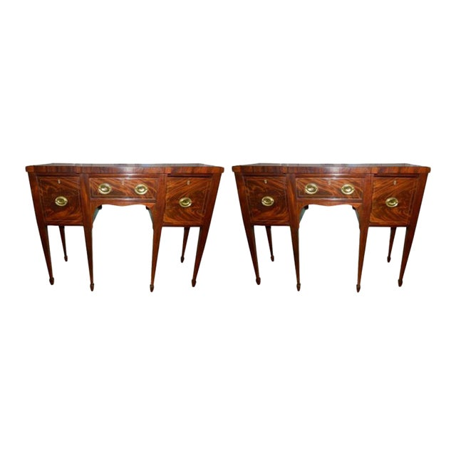 Brandy Mahogany Sideboards or Buffets, 19th Century - A Pair For Sale