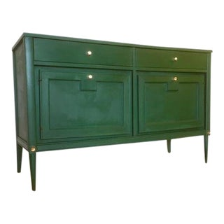 1960s Mid-Century Modern Basic Witz Green Buffet For Sale