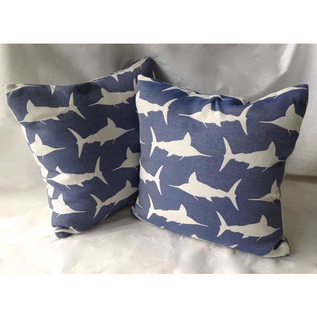 2010s Marlin Indoor/Outdoor Pillows - A Pair For Sale - Image 5 of 8