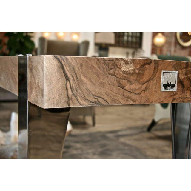 """Brown Console or Table """"Diva"""" For Sale - Image 8 of 11"""
