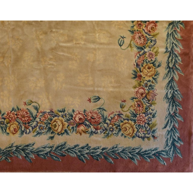 "French Savonnerie Carpet 12' x 15' 2"" - Image 2 of 2"