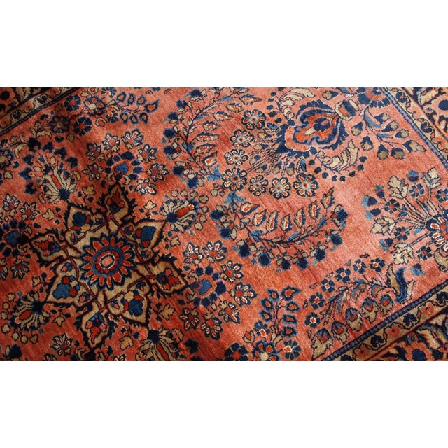 1920s, Handmade Antique Persian Sarouk Rug 3.3' X 5.5' For Sale - Image 4 of 9