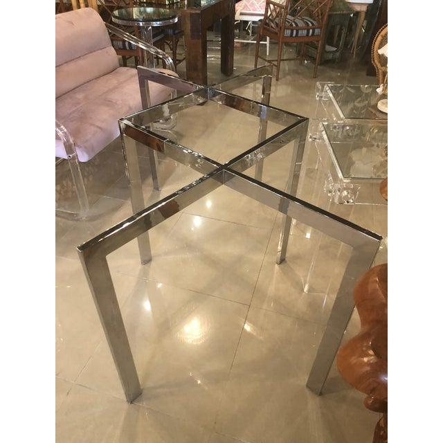 Silver Vintage Milo Baughman Thayer Coggin Chrome Dining Table For Sale - Image 8 of 12