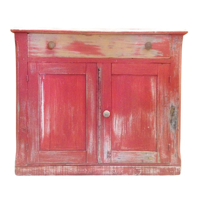 Red Painted Commode Chest - Image 4 of 7