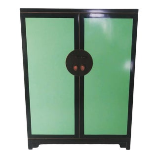 Vintage Asian Modern Lacquer Chinese Cabinet For Sale