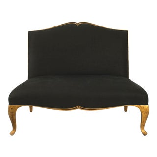 Contemporary Post-War Black Loveseat For Sale