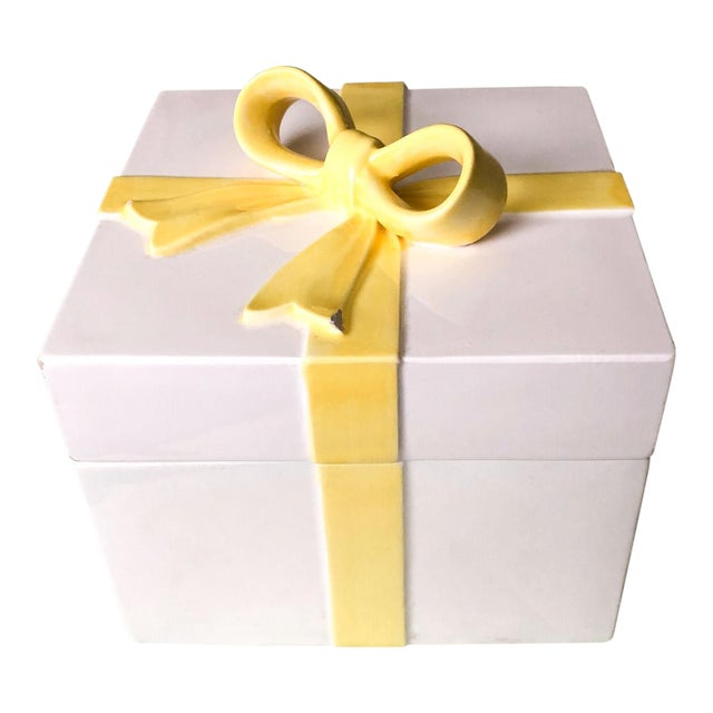 Pretty Yellow Ribbon Box For Sale