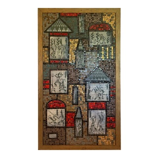 1950s Mid Century Modern Tile Mosaic Panel by David Holleman For Sale