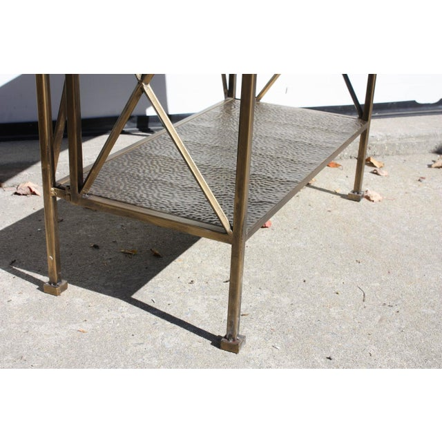 1990s Italian Wireframe Triptych Etagere Shelf - Image 5 of 10