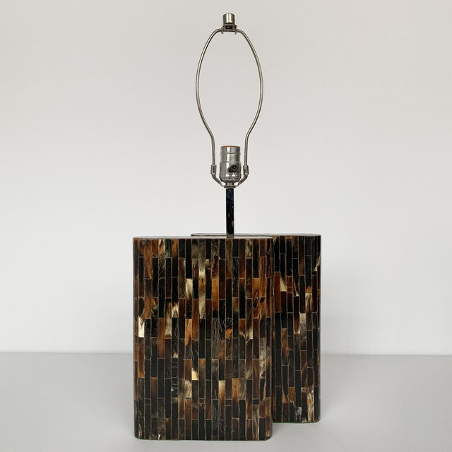 Mid-Century Modern Enrique Garcel Tessellated Horn Table Lamp For Sale - Image 3 of 13