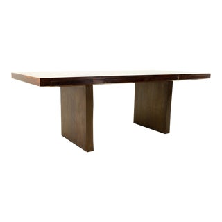 Edward Wormley for Dunbar Mid Century Rosewood and Bronze Executive Desk For Sale