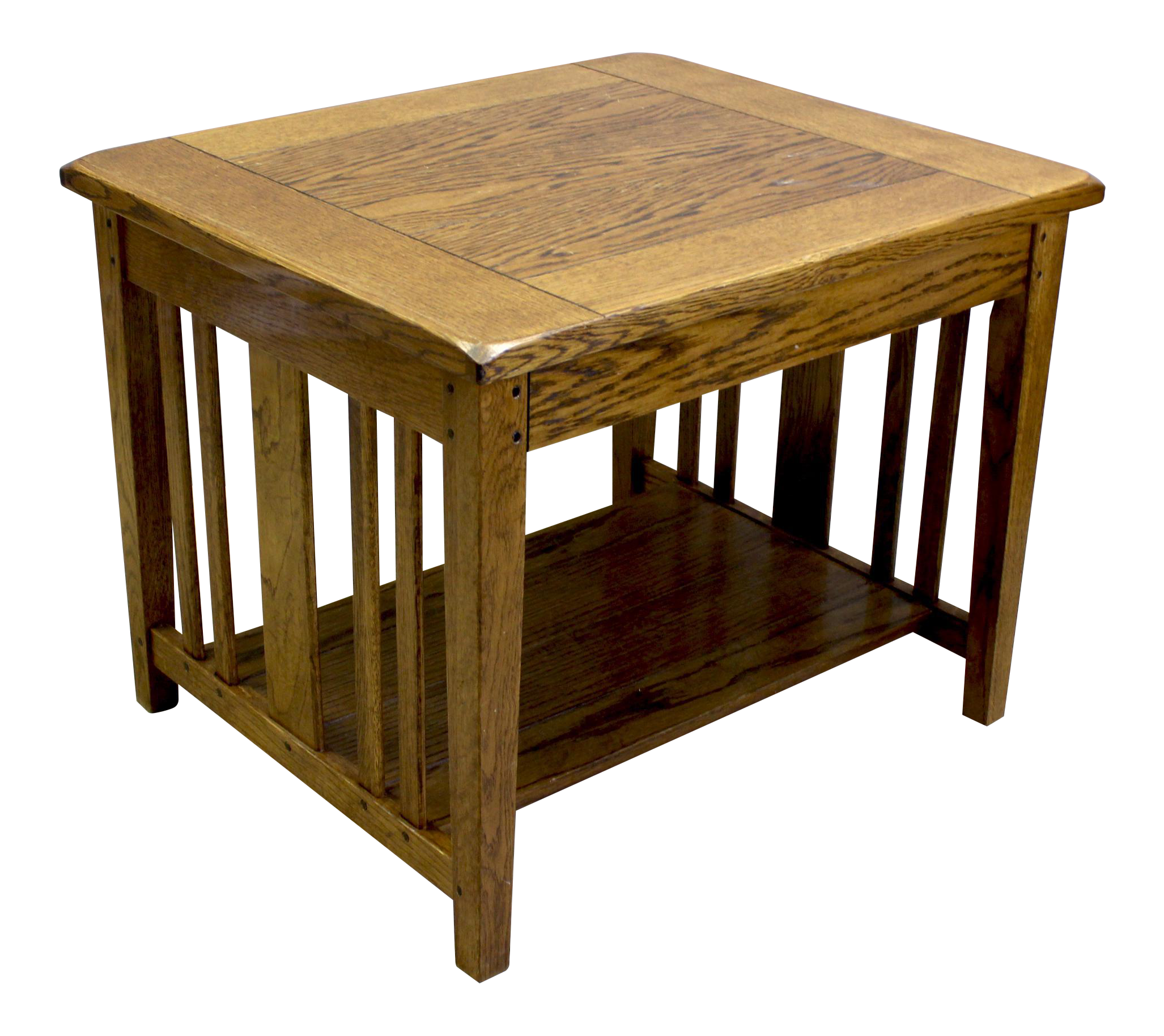 Vintage Oak Two Tiered Side Tables