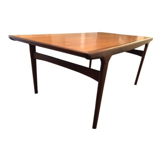1960s Mid-Century Modern Johannes Anderson Teak Expanding Dining Table For Sale