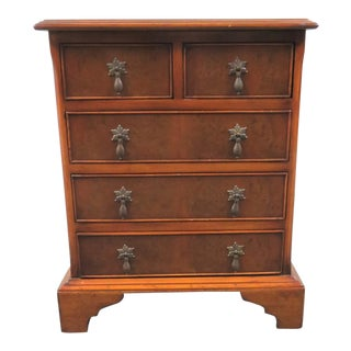 English Chippendale Burlwood Nightstand