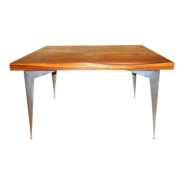 mid century modern zebra wood coffee table chairish. Black Bedroom Furniture Sets. Home Design Ideas