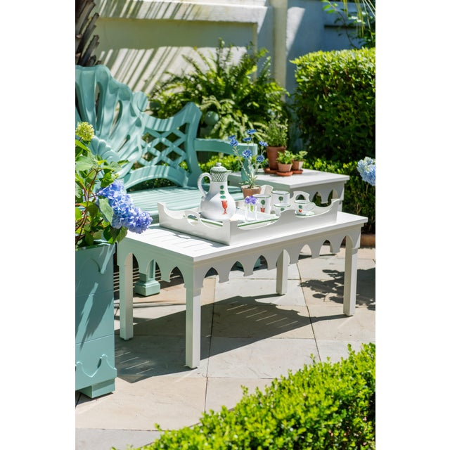 Not Yet Made - Made To Order Oomph Ocean Drive Rectangle Outdoor Coffee Table, Green For Sale - Image 5 of 7