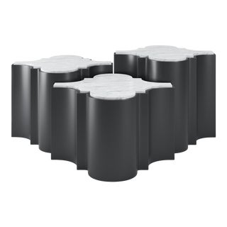 Sofia Nesting Tables, Set of 3 - Black Iron For Sale