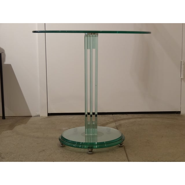 Fontana Arte Style Glass Tables - A Pair - Image 4 of 8
