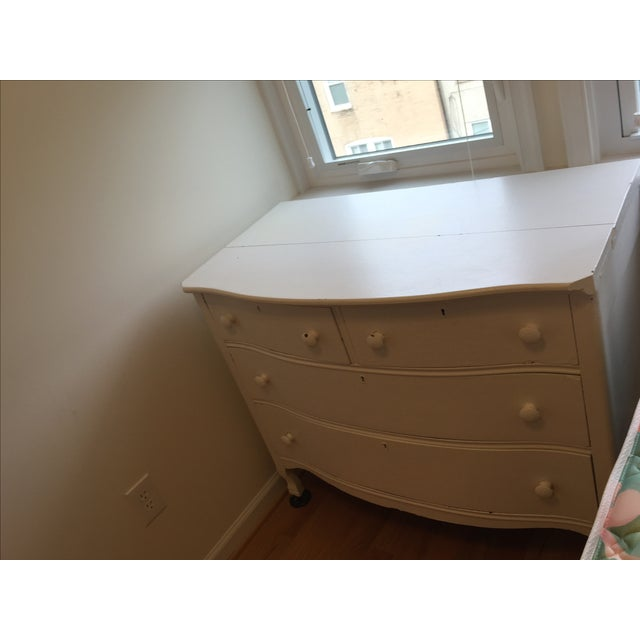 Painted White Wooden Dresser - Image 4 of 7