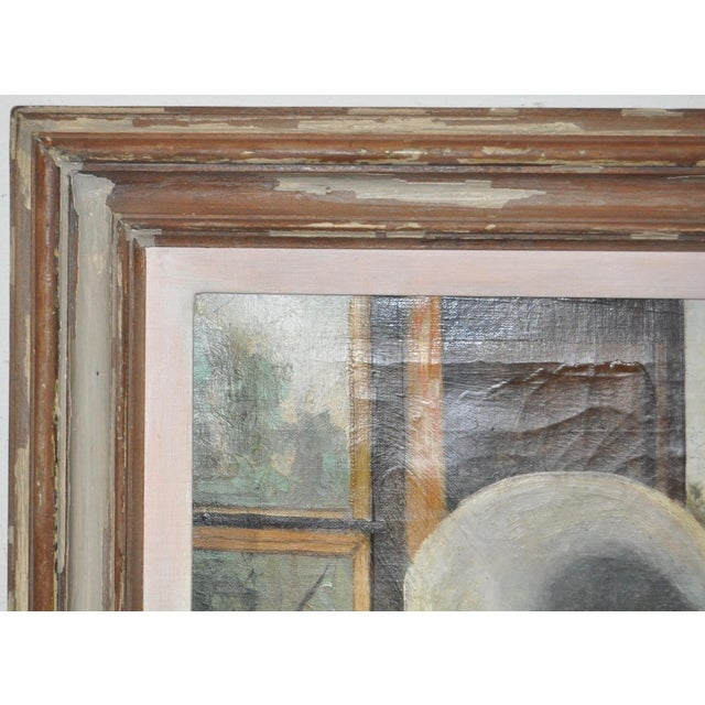 "Stephen Etnier (American, 1903-1984) ""Studio Window"" Original Oil Painting C.1932 For Sale - Image 4 of 10"