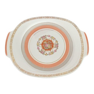 1940s Triumph Limoges Floral Platter For Sale