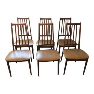 Scandinavian Hornslet Hgih Back Dining Chairs - Set of 6