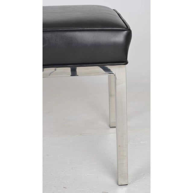 Mid-Century Modern Modern Chrome Bench For Sale - Image 3 of 5