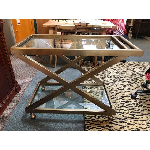 Restoration Hardware Milo Bar Cart For Sale - Image 11 of 11