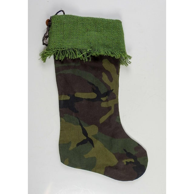 Contemporary Custom Camouflage Christmas Stocking For Sale - Image 3 of 4