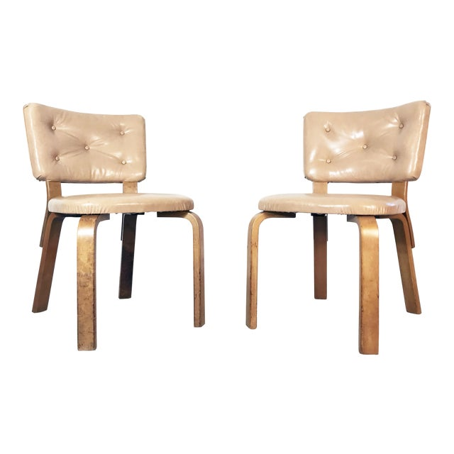 Early Alvar Aalto Model 62 Upholstered Chairs - a Pair For Sale