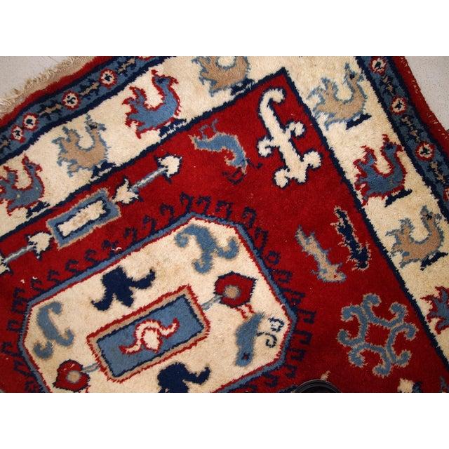 1970s Vintage Caucasian Kazak Rug - 4′ × 6′ - Image 10 of 10