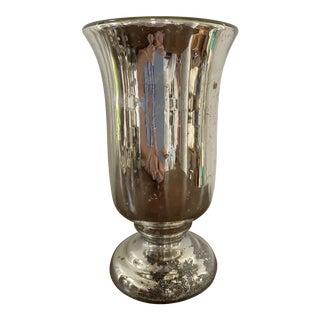 Late 19th Century Antique Mercury Glass Vase For Sale