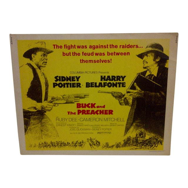"""1972 Vintage Movie Poster of """"Buck and the Preacher"""" For Sale"""